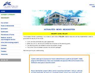 mail.euroschool.lu screenshot