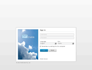 mail.forivia.com screenshot