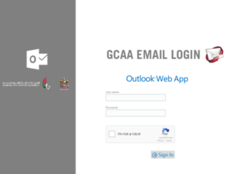 mail.gcaa.ae screenshot