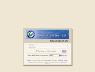 mail.giresun.edu.tr screenshot