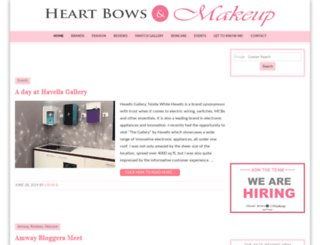 mail.heartbowsmakeup.com screenshot