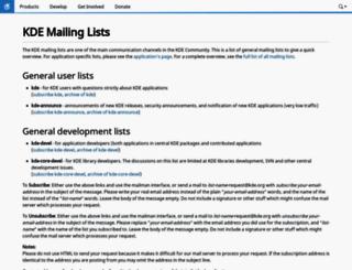 mail.kde.org screenshot