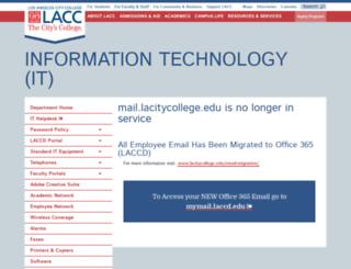 mail.lacitycollege.edu screenshot
