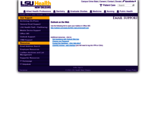 mail.lsuhsc.edu screenshot
