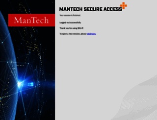 mail.mantech.com screenshot