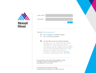 mail.mountsinai.org screenshot