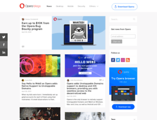 mail.opera.com screenshot