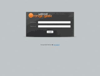 mail.orangegeek.com screenshot