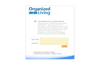 mail.organizedliving.com screenshot