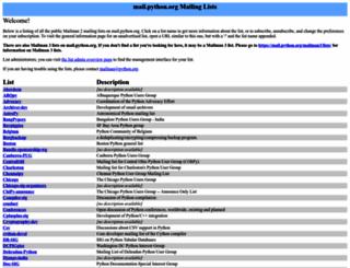 mail.python.org screenshot