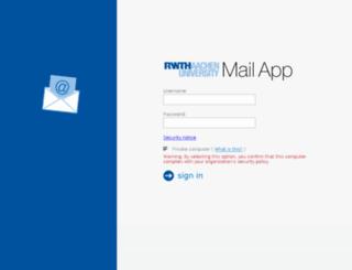 mail.rwth-aachen.de screenshot