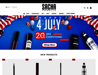 mail.sachacosmetics.com screenshot