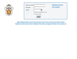 mail.sns.it screenshot