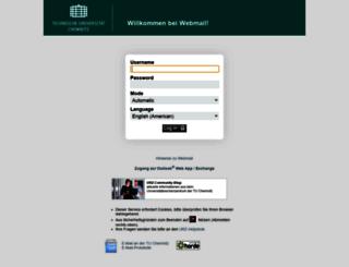 mail.tu-chemnitz.de screenshot