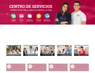 mail.une.edu.mx screenshot