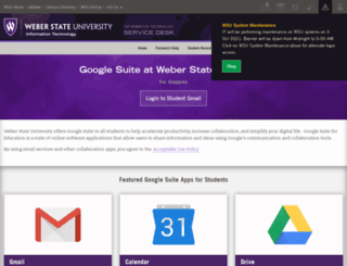 mail.weber.edu screenshot