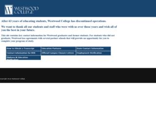 mail.westwood.edu screenshot