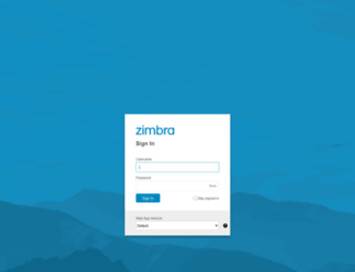 mail.zimbra.com screenshot