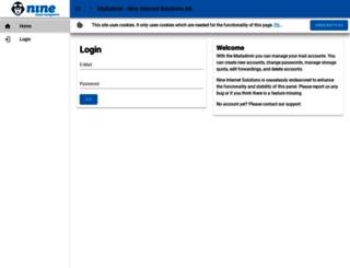 mailadmin.nine.ch screenshot