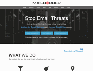 mailborder.com screenshot
