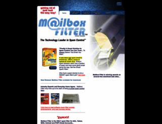 mailboxfilter.com screenshot