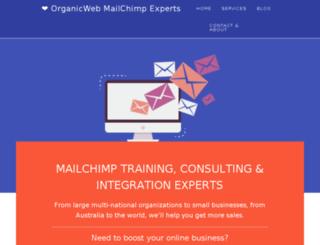 mailchimp.organicweb.com.au screenshot