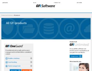 mailessentials.gfi.com screenshot