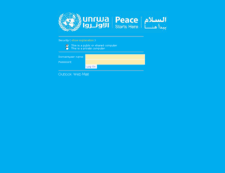 mailgfo.unrwa.org screenshot