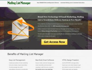 mailing-list-manager.com screenshot