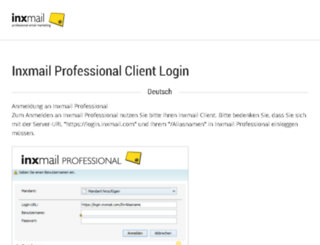 mailing.mit.de screenshot