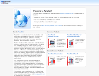 mailing.ticketek.com.ar screenshot