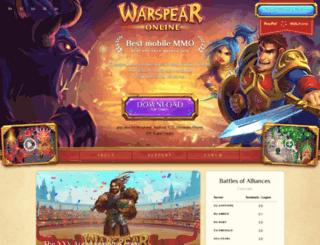 mailings.warspear-online.com screenshot