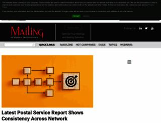 mailingsystemstechnology.com screenshot