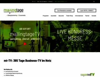 mailingtage.de screenshot