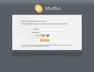 maillist.dandomain.dk screenshot