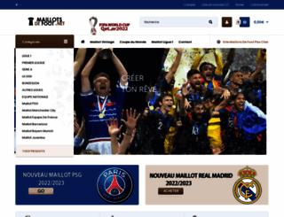 maillotsdefoot.net screenshot