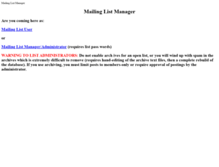 mailman.ucar.edu screenshot
