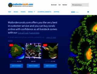 mailordercorals.com screenshot