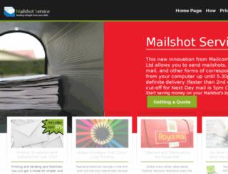 mailshot-service.co.uk screenshot