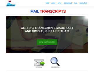 mailtranscripts.com screenshot