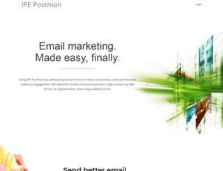 mailwizz.ipepostman.com screenshot