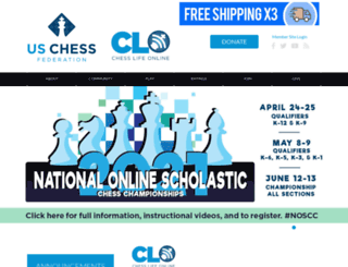 main.uschess.org screenshot