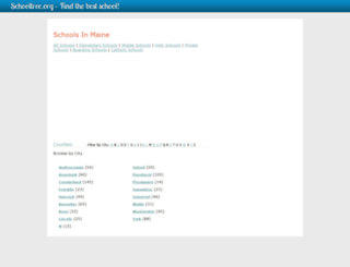 maine.schooltree.org screenshot