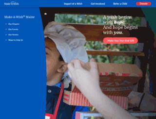 maine.wish.org screenshot