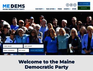mainedems.org screenshot