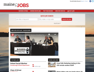 mainejobs.mainetoday.com screenshot
