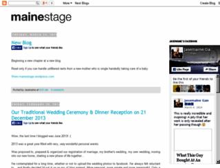 mainestage.blogspot.com screenshot