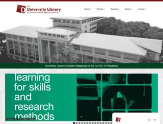 mainlib.upd.edu.ph screenshot