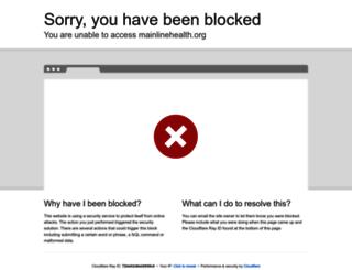 mainlinehealth.org screenshot