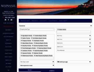 mainsailrealtycompany.idxbroker.com screenshot